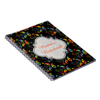 Create Your Own Rainbow Paisley Notebook