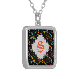 Create Your Own Rainbow Paisley Silver Plated Necklace