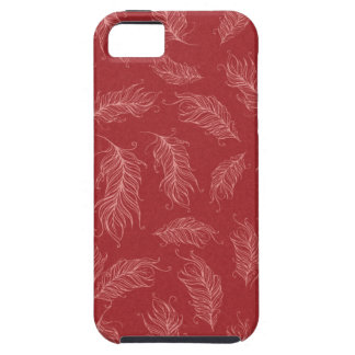 Create Your Own Red Feathers iPhone 5 Covers