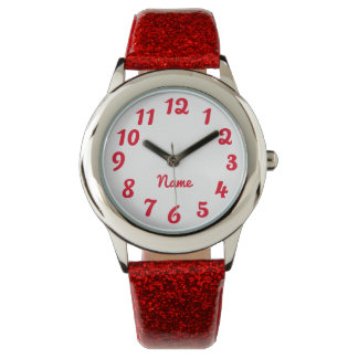 Create Your Own Red Personalized Solid Color Watches