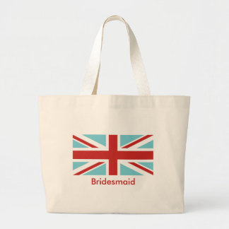 Create Your Own Red Union Jack Large Tote Bag
