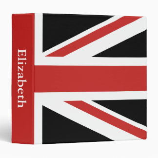 Create Your Own Red Union Jack Vinyl Binders