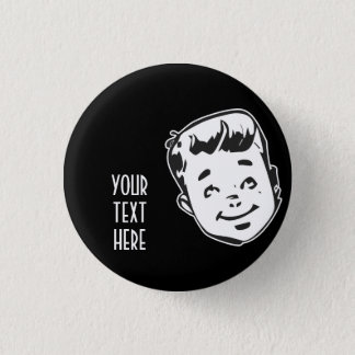 CREATE YOUR OWN RETRO BOY GIFTS 1 INCH ROUND BUTTON
