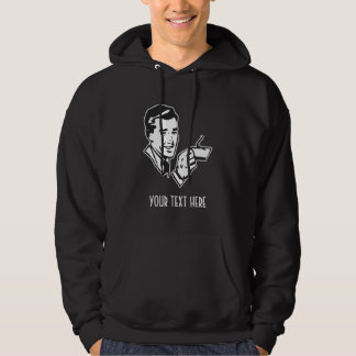 CREATE YOUR OWN RETRO COFFEE MAN GIFTS HOODIE