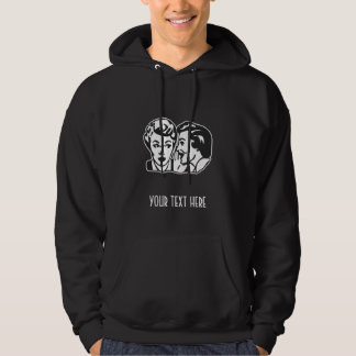 CREATE YOUR OWN RETRO GOSSIP LADY GIFTS HOODIE