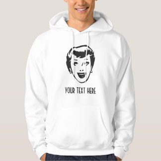 CREATE YOUR OWN RETRO HAPPY LADY HEAD GIFTS HOODIE