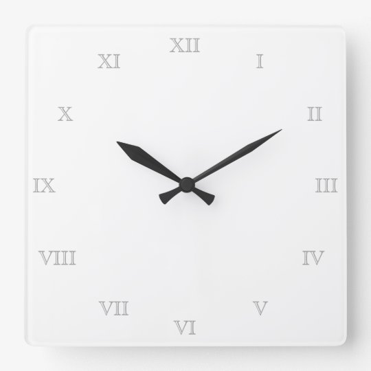 Create Your Own Roman Numerals Blank Template Square Wall Clock
