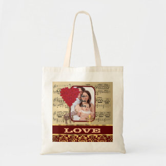 Create your own romantic valentines budget tote bag