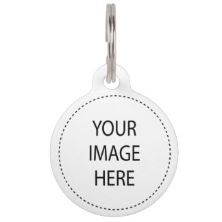 Create Your Own Round Large Pet Tag