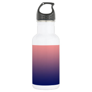 Create your own   salmon pink to blue gradient 532 ml water bottle