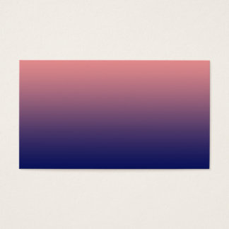 Create your own | salmon pink to blue gradient business card