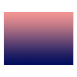 Create your own | salmon pink to blue gradient postcard