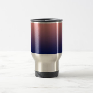 Create your own | salmon pink to blue gradient travel mug