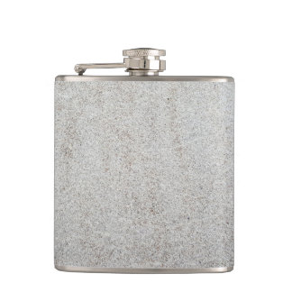 Create your own | Sand texture photo Hip Flask
