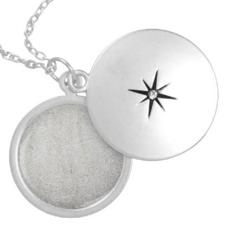 Create your own | Sand texture photo Silver Plated Necklace