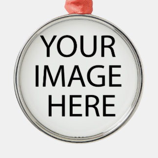 Create your own Selfies!!! Silver-Colored Round Ornament