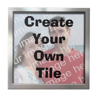 Create Your Own Silver Border Tile