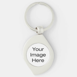 Create Your Own Silver-Colored Swirl Keychain