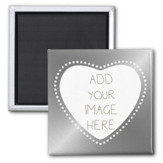 Create Your Own Silver Heart Magnet