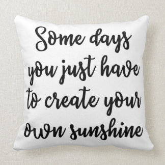 Create your own sunshine Pillow
