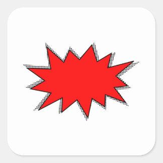 Create Your Own Superhero Onomatopoeias! POW! Square Sticker