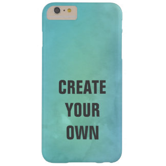 Create Your Own Turquoise Watercolor Painting Barely There iPhone 6 Plus Case