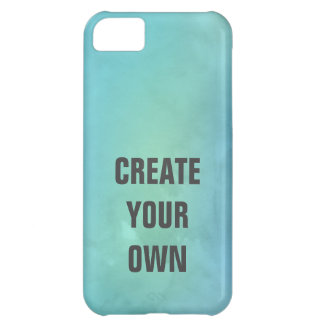 Create Your Own Turquoise Watercolor Painting Case For iPhone 5C