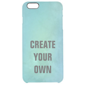 Create Your Own Turquoise Watercolor Painting Clear iPhone 6 Plus Case