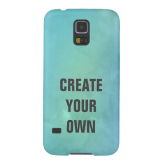 Create Your Own Turquoise Watercolor Painting Galaxy S5 Case