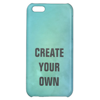Create Your Own Turquoise Watercolor Painting iPhone 5C Cases