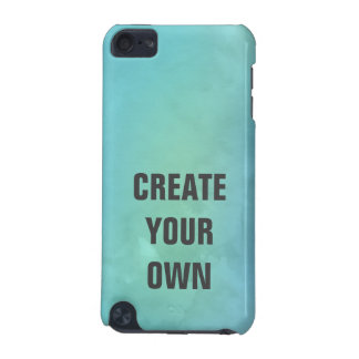 Create Your Own Turquoise Watercolor Painting iPod Touch (5th Generation) Case