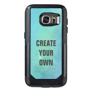 Create Your Own Turquoise Watercolor Painting OtterBox Samsung Galaxy S7 Case