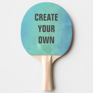 Create Your Own Turquoise Watercolor Painting Ping Pong Paddle