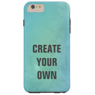 Create Your Own Turquoise Watercolor Painting Tough iPhone 6 Plus Case
