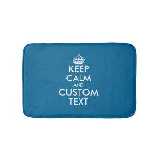 Create your own unique blue keep calm bath rug mat