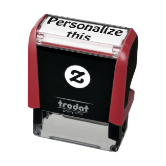 Create your own unique one of a kind personalized self-inking stamp