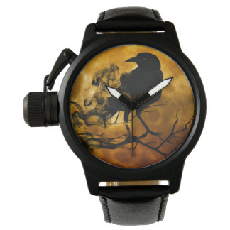 Create your own Unique Protector Black Rubber Mens Watches