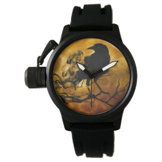 Create your own Unique Protector Black Rubber Mens Wrist Watches