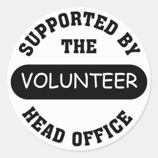 Create your own unique volunteer team gift round sticker