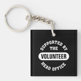 Create your own unique volunteer team Single-Sided square acrylic keychain