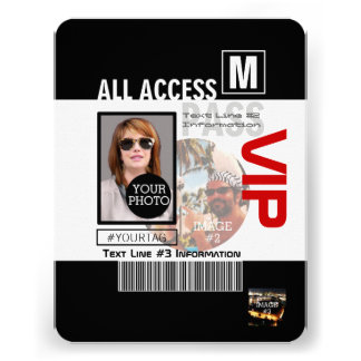 Create Your Own VIP Pass 8 ways to Personalize! Personalized Announcement