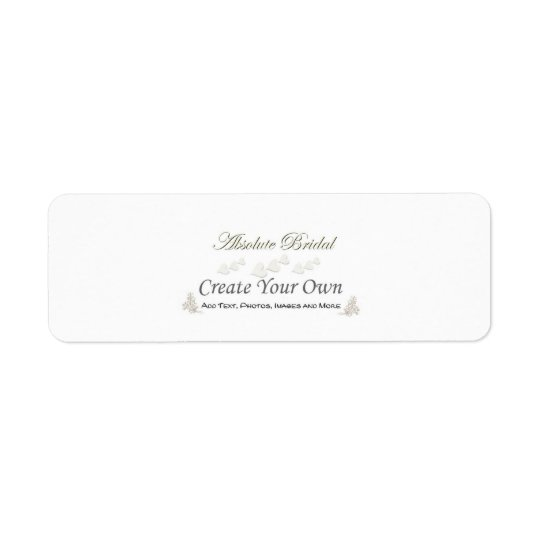 Create Your Own Wedding Address Labels