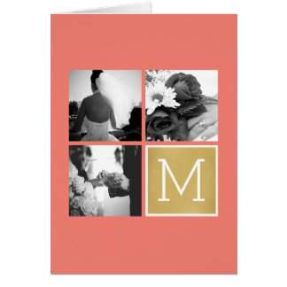 Create Your Own Wedding Photo Collage Monogram Card