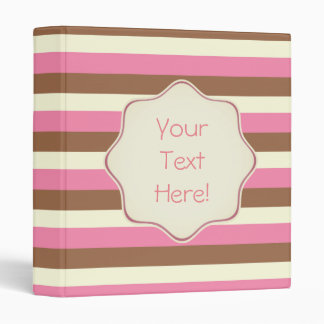 Create Your Own - Whimsical Neapolitan Stripes Binders