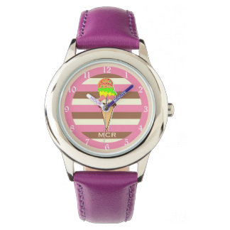 Create Your Own - Whimsical Neapolitan Stripes Watch