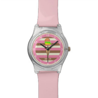 Create Your Own - Whimsical Neapolitan Stripes Wrist Watch