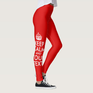 Create Your Own White Keep Calm and Carry On Leggings