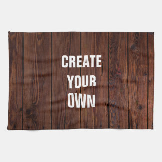 Create Your Own Wooden Floor Look Kitchen Towel