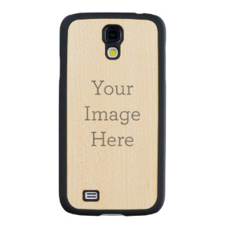 Create Your Own Wooden Samsung Galaxy S4 Case Carved® Maple Galaxy S4 Slim Case