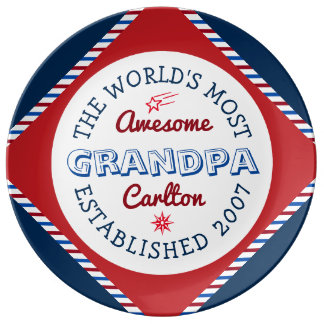 Create Your Own World's Most Awesome Grandpa Logo Plate